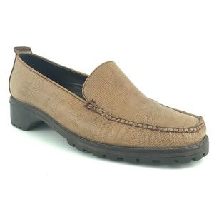 Cole Haan Leather Loafers Lug Sole Career Tan 9 *H